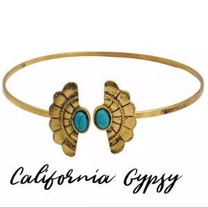 Festival boho gold turquoise bracelet